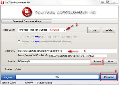 phần mềm tải video trên youtube