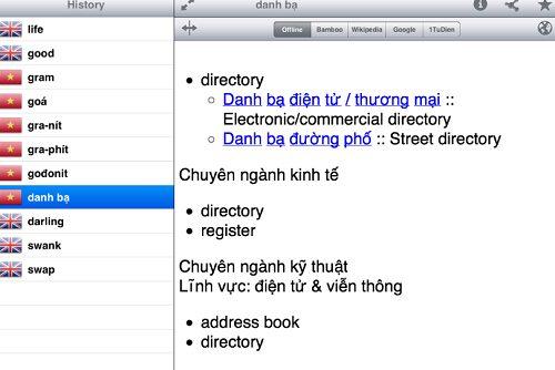 phần mềm từ điển Anh Việt