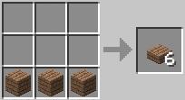Cách chế tạo gỗ tấm minecraft