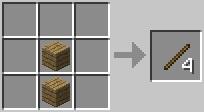Cách chế tạo que gỗ minecraft