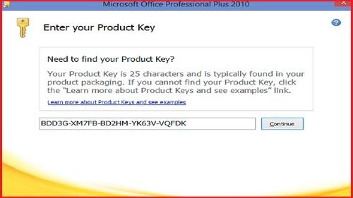 key microsoft office 2010