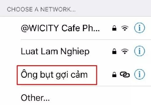 tên wifi bá đạo